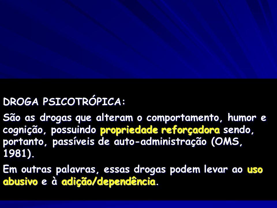 DROGA PSICOTRÓPICA:
