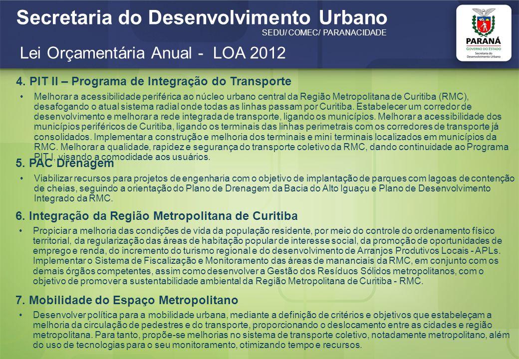 Lei Orçamentária Anual - LOA 2012