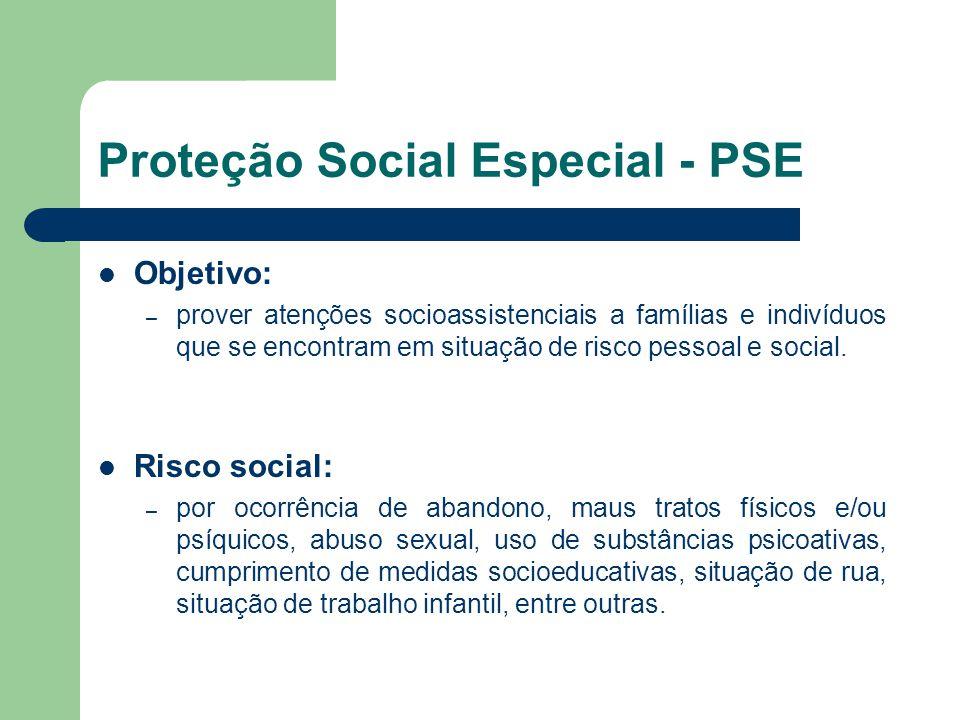 Proteção Social Especial - PSE