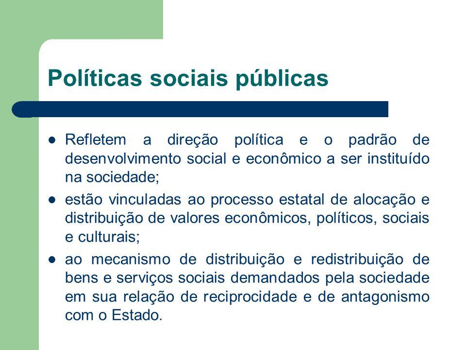 Políticas sociais públicas