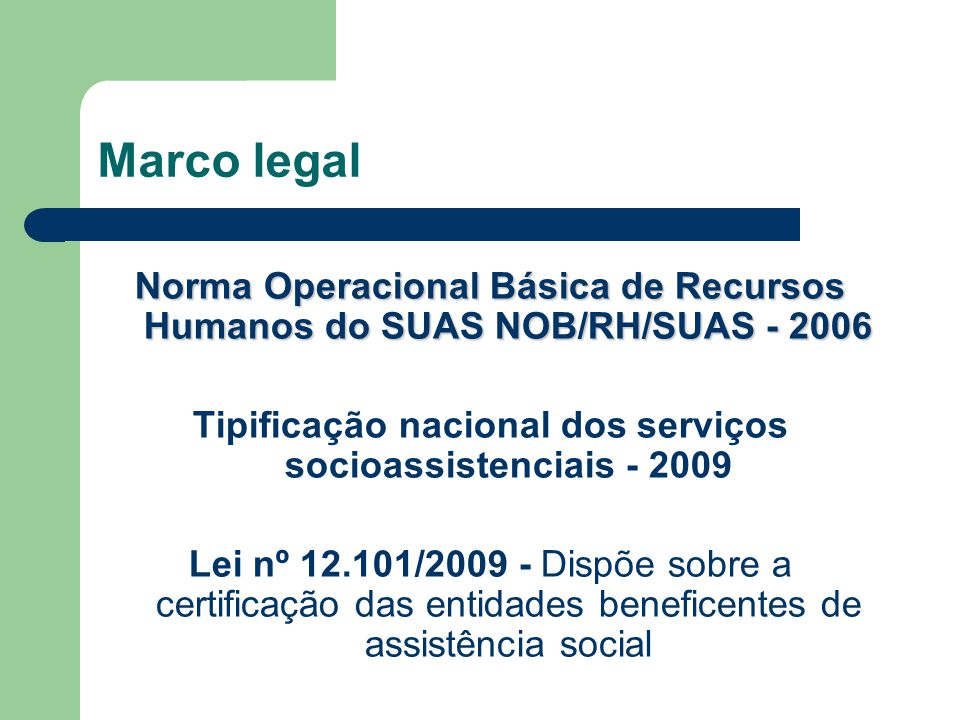 Tipificação nacional dos serviços socioassistenciais - 2009