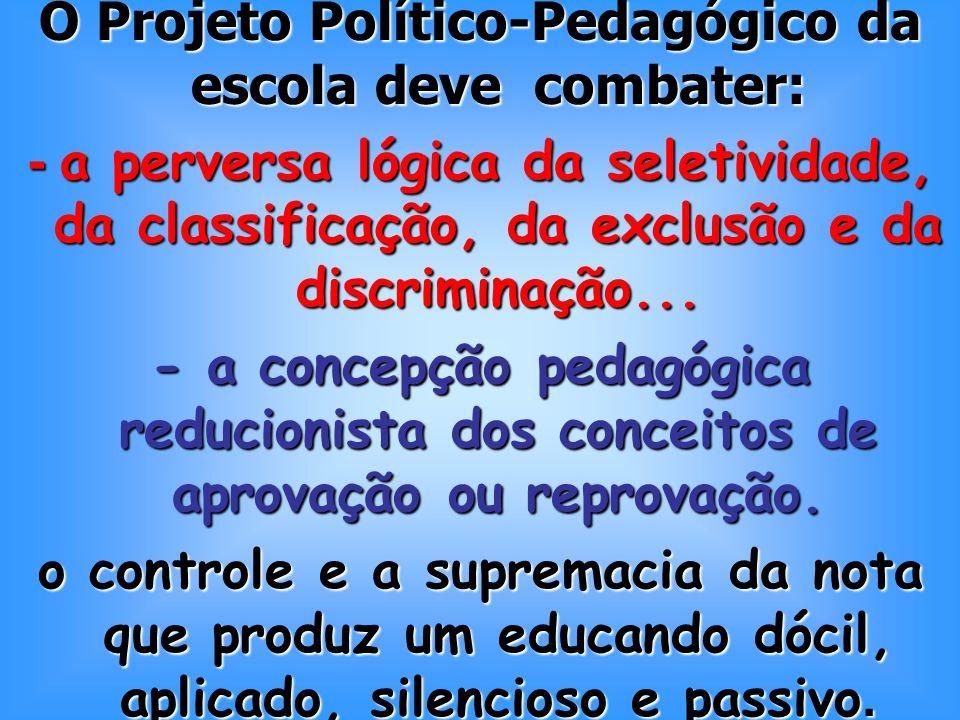 O Projeto Político-Pedagógico da escola deve combater: