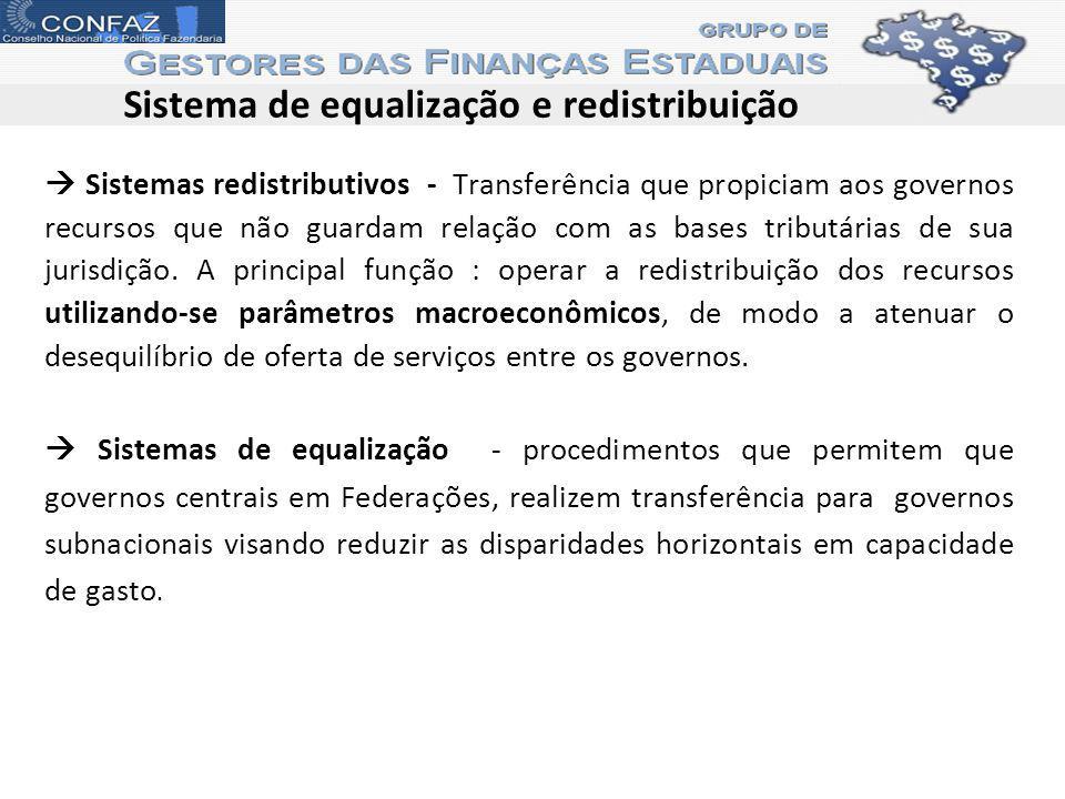 Sistema de equalização e redistribuição