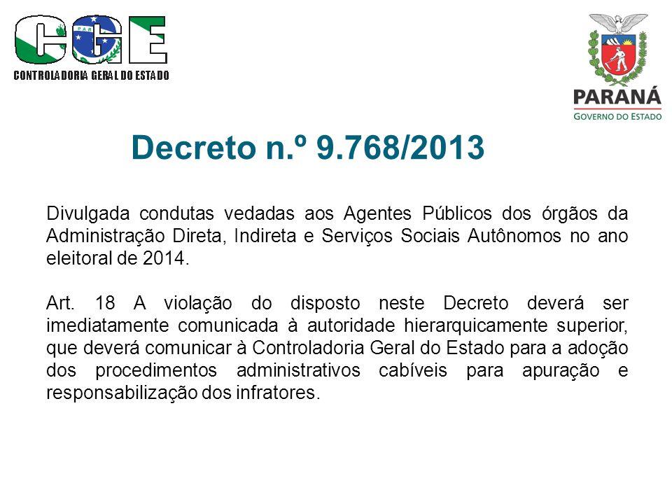 Decreto n.º 9.768/2013