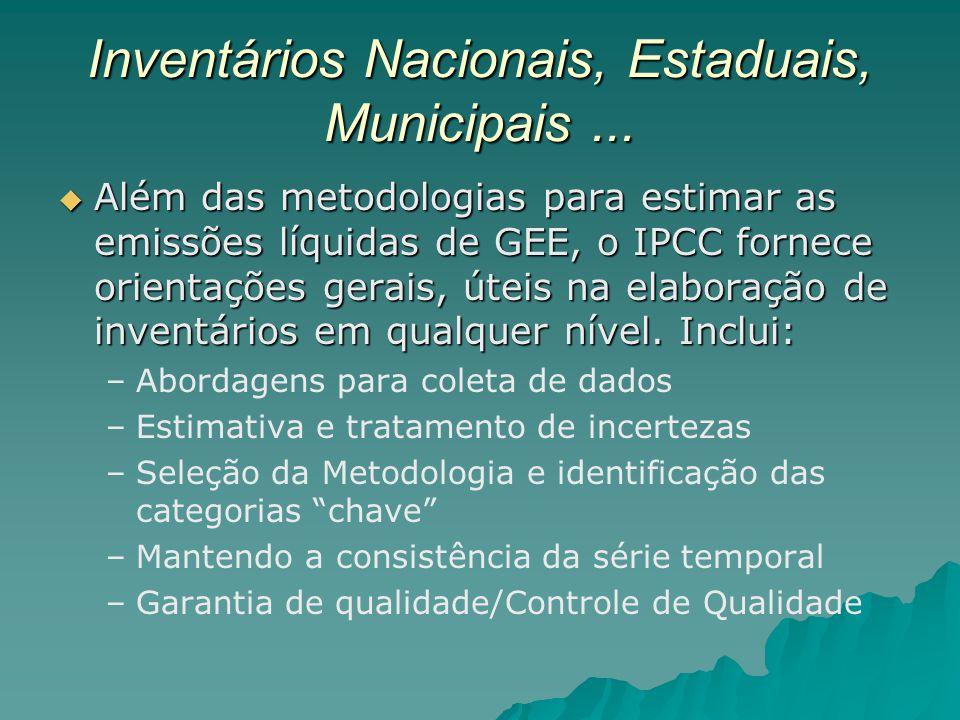 Inventários Nacionais, Estaduais, Municipais ...