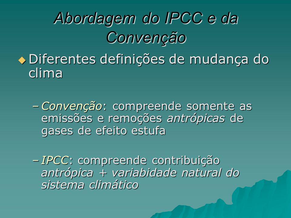 Abordagem do IPCC e da Convenção