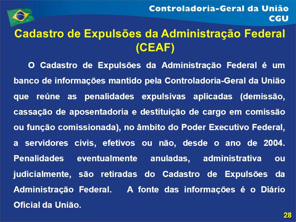 Cadastro de Expulsões da Administração Federal (CEAF)