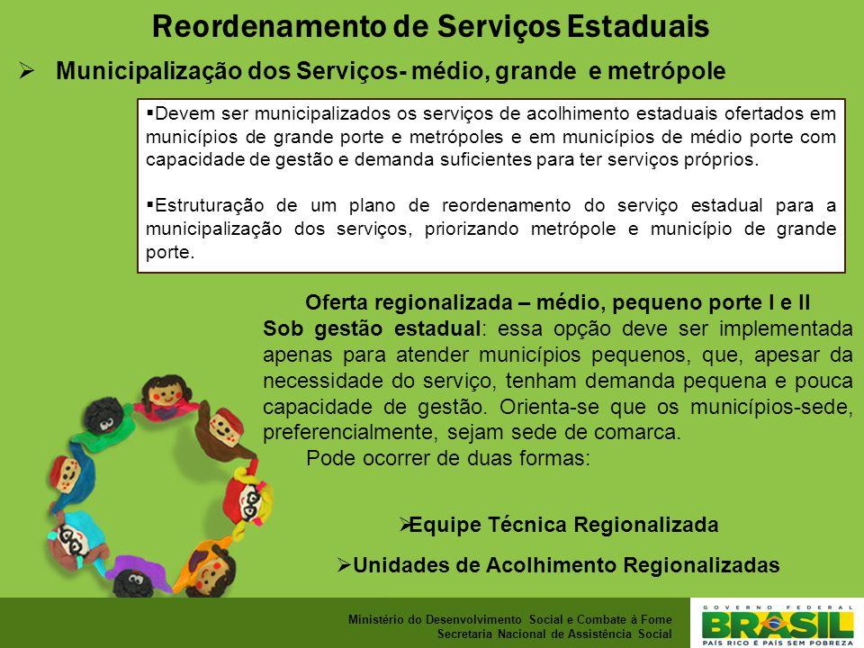 Reordenamento de Serviços Estaduais