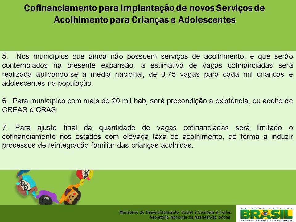 Cofinanciamento para implantação de novos Serviços de Acolhimento para Crianças e Adolescentes