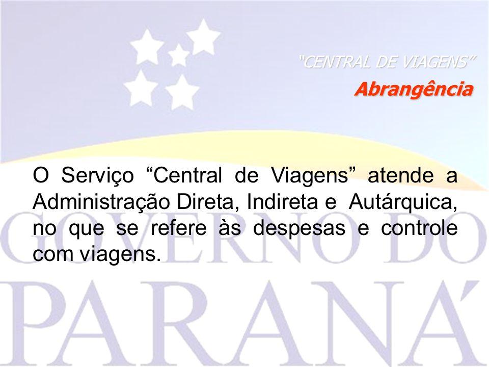 CENTRAL DE VIAGENS Abrangência.