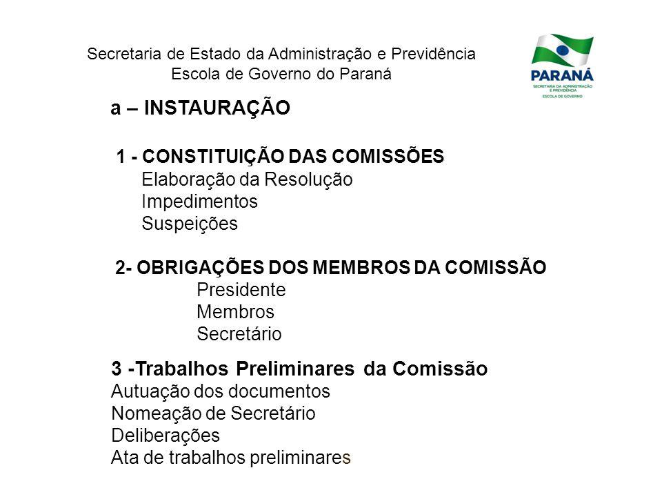 1 - CONSTITUIÇÃO DAS COMISSÕES
