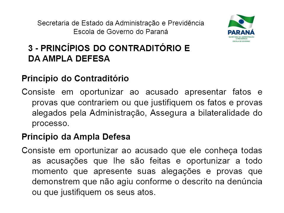 3 - PRINCÍPIOS DO CONTRADITÓRIO E