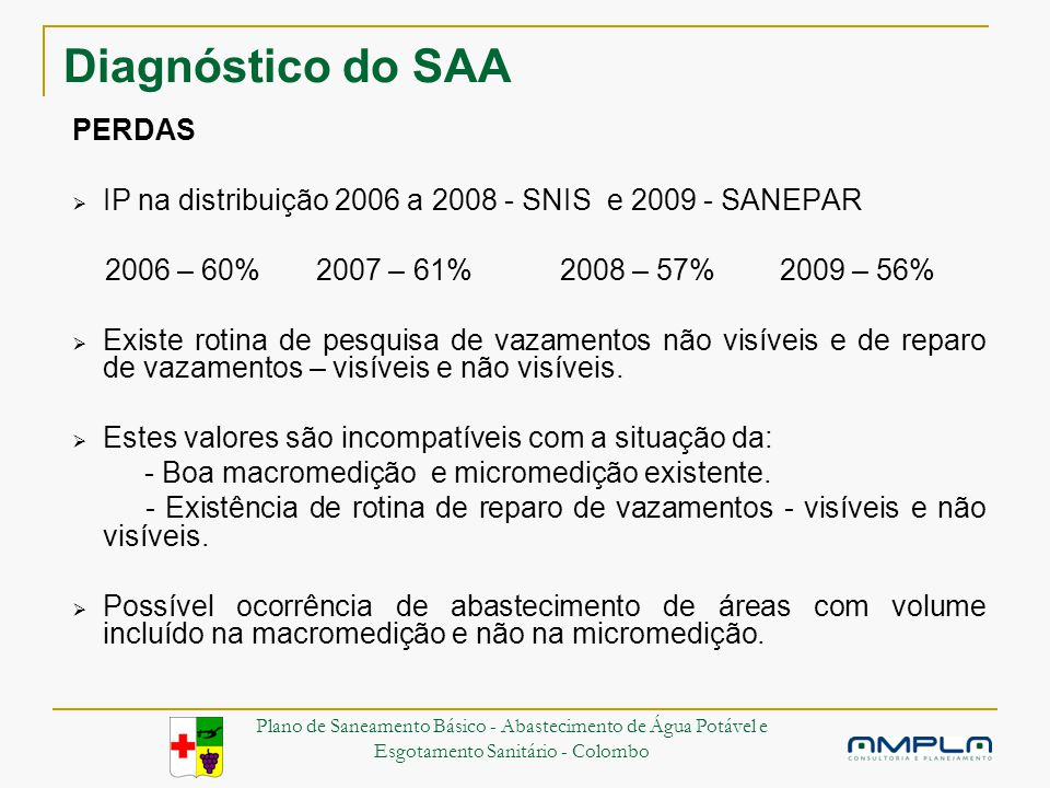 Diagnóstico do SAA PERDAS