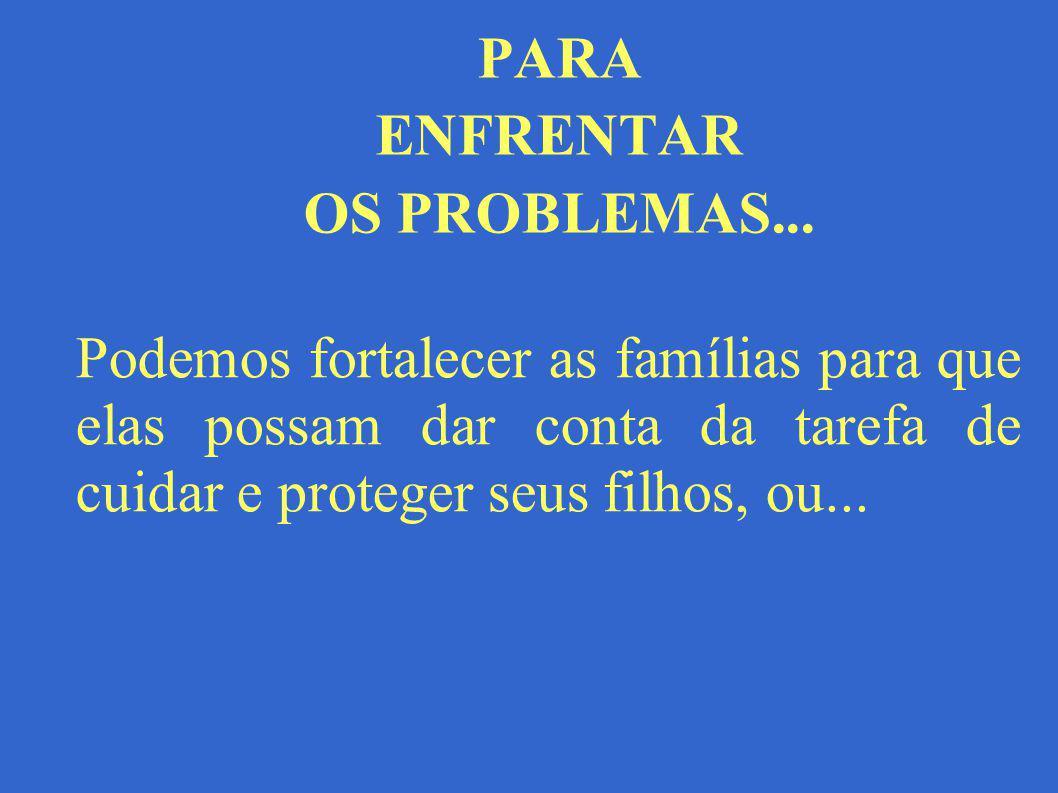 PARA ENFRENTAR OS PROBLEMAS...