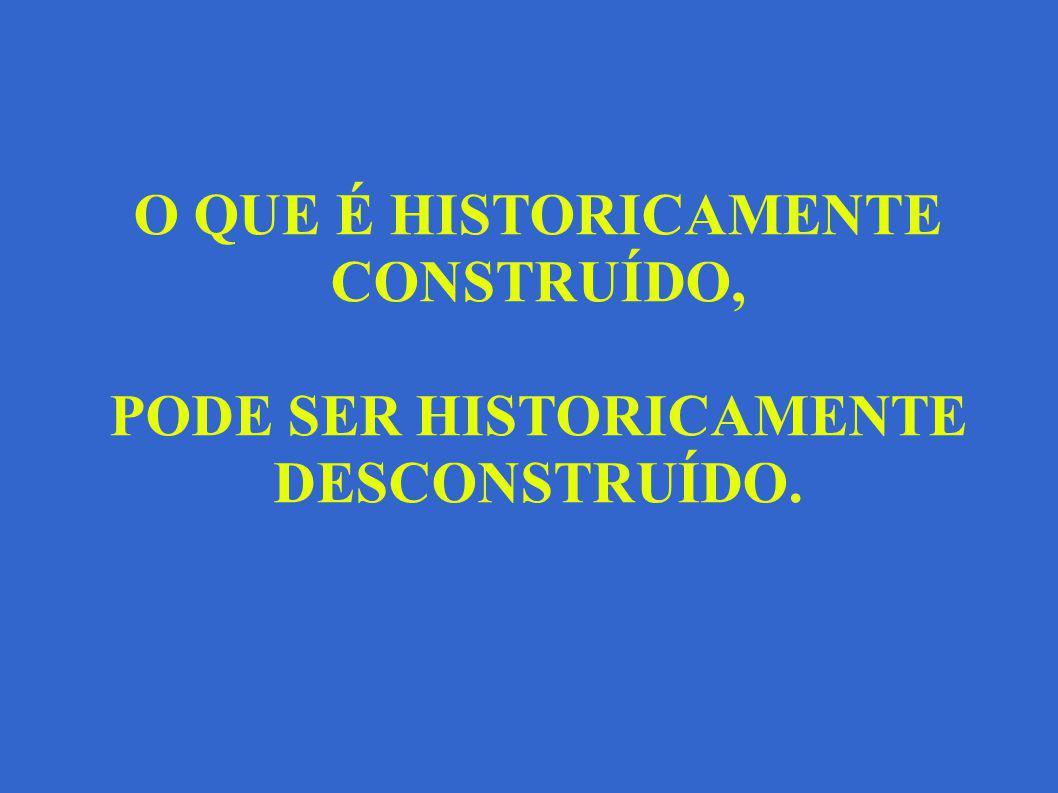 O QUE É HISTORICAMENTE CONSTRUÍDO,
