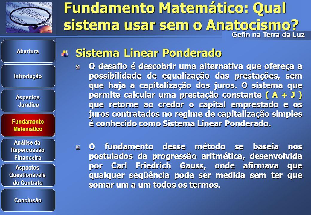 Fundamento Matemático: Qual sistema usar sem o Anatocismo