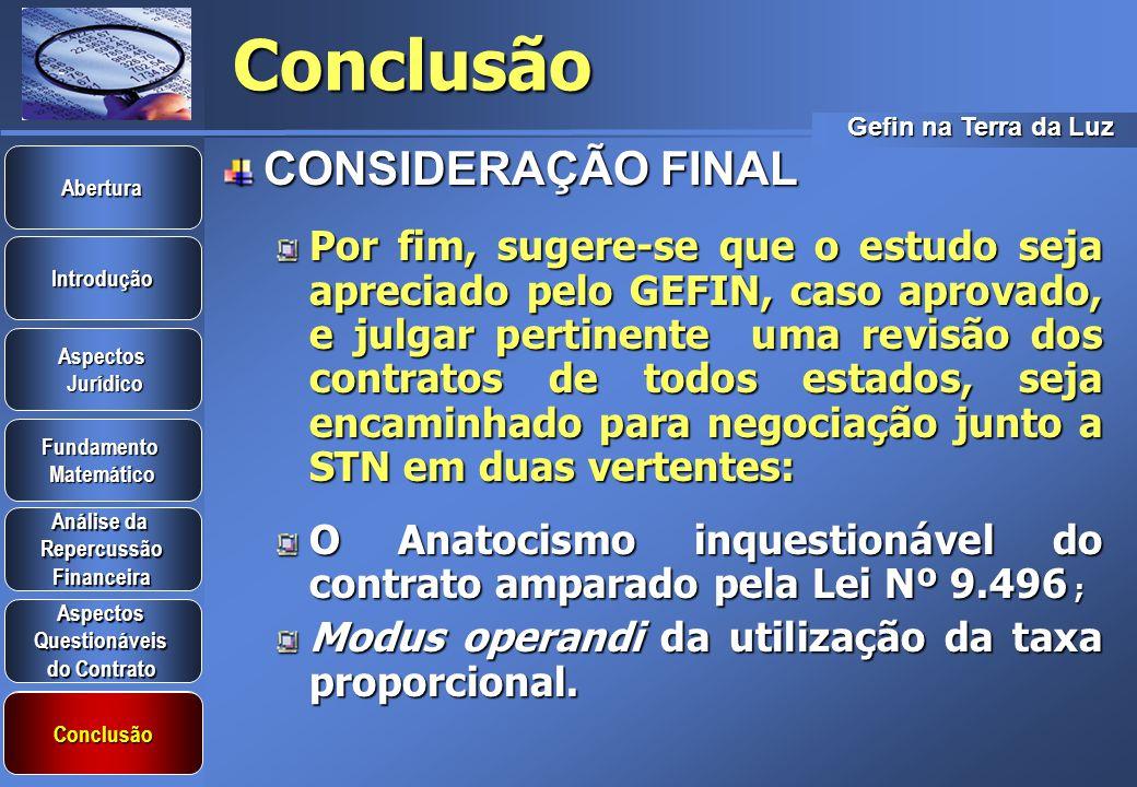 Conclusão CONSIDERAÇÃO FINAL