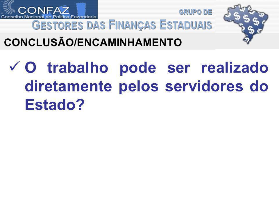 CONCLUSÃO/ENCAMINHAMENTO