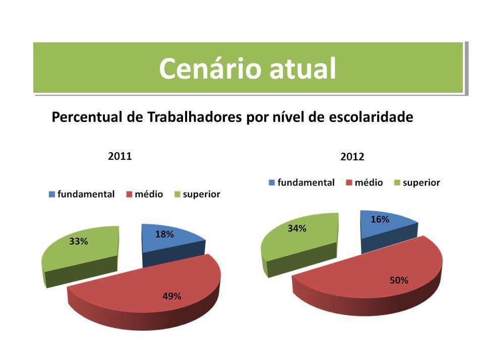 Percentual de Trabalhadores por nível de escolaridade