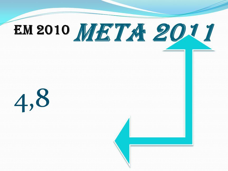 Em 2010 4,8 META 2011