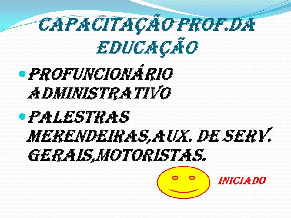 CAPACITAÇÃO PROF.DA EDUCAÇÃO