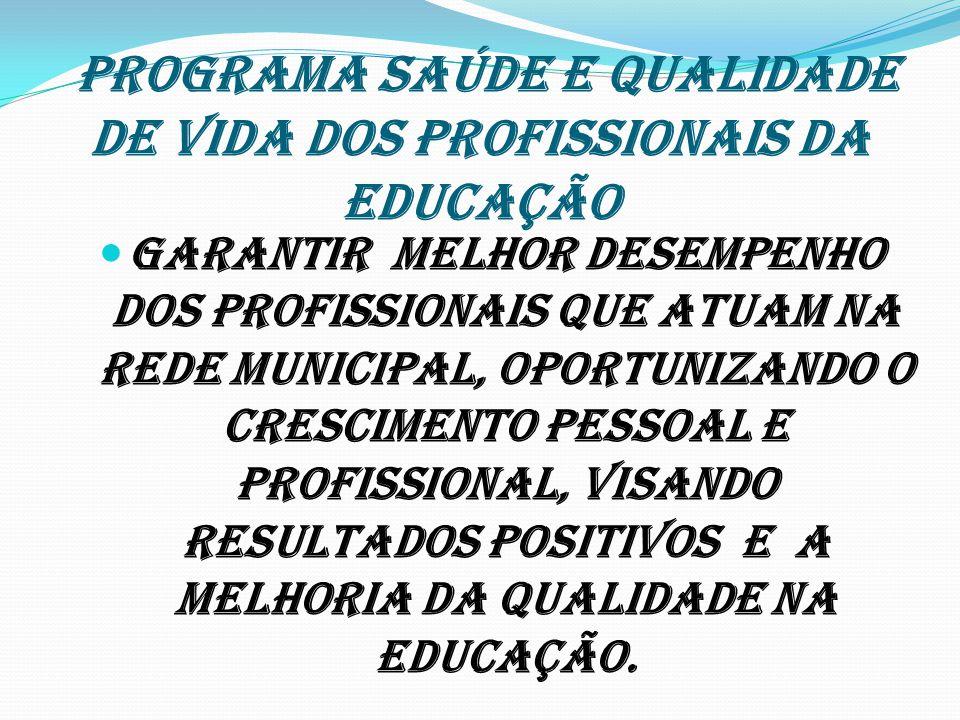 PROGRAMA SAÚDE E QUALIDADE DE VIDA DOS PROFISSIONAIS DA EDUCAÇÃO