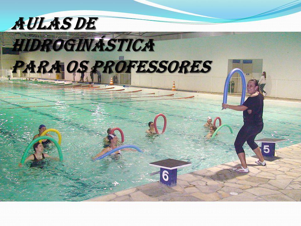 AULAS DE HIDROGINÁSTICA PARA OS PROFESSORES