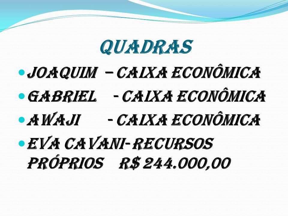 QUADRAS Joaquim – Caixa Econômica Gabriel - Caixa Econômica