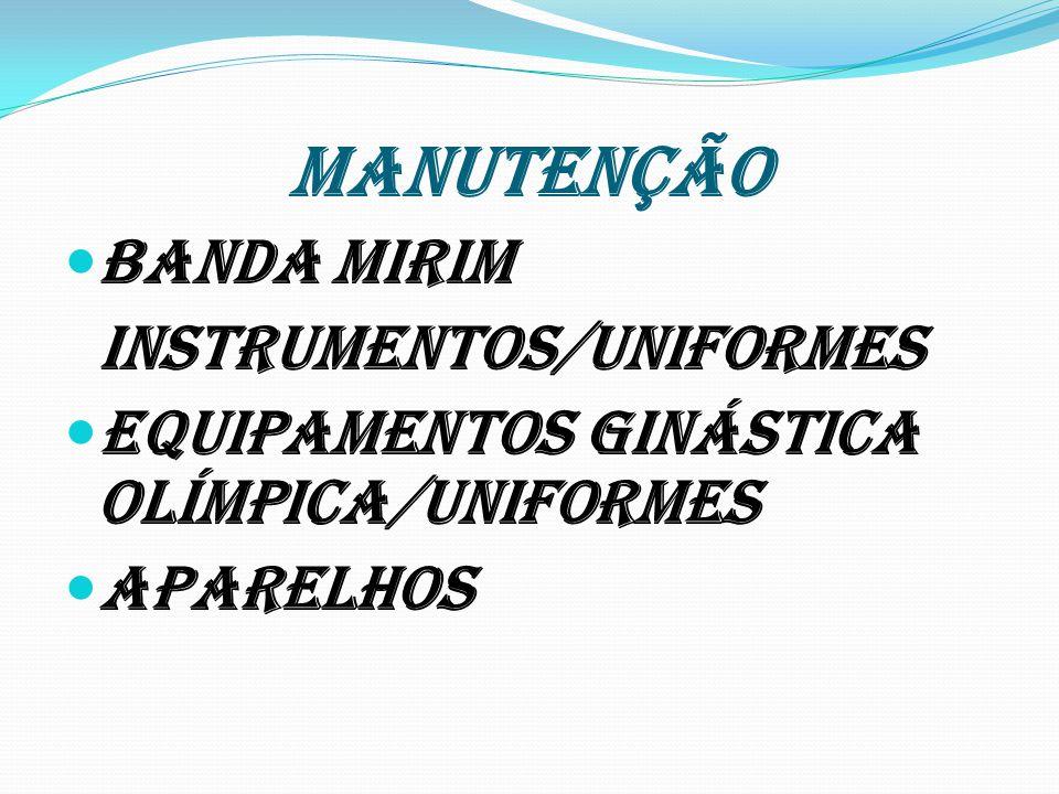 MANUTENÇÃO Banda Mirim Instrumentos/uniformes