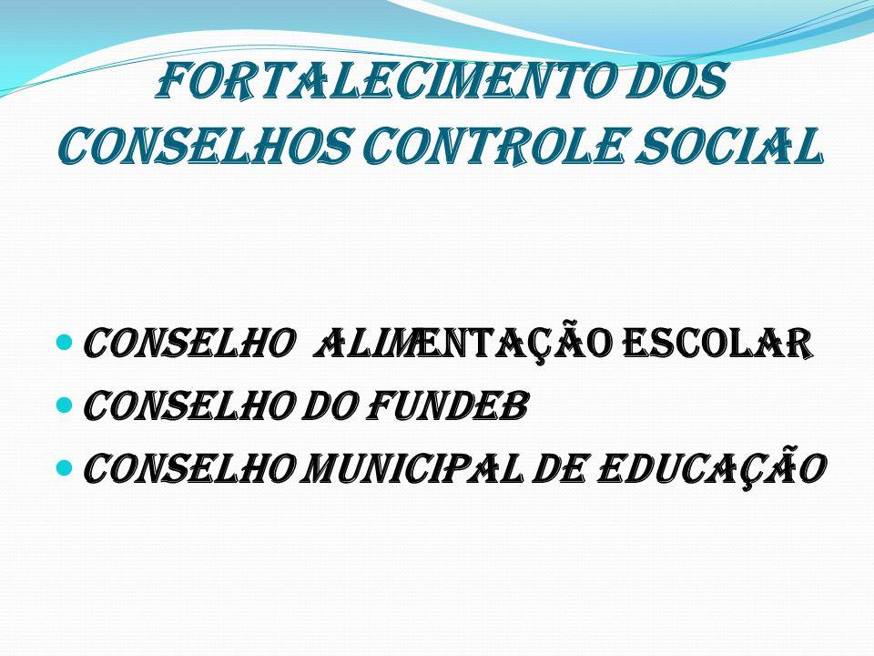 FORTALECIMENTO DOS CONSELHOS CONTROLE SOCIAL