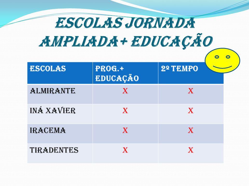 ESCOLAS JORNADA AMPLIADA+ EDUCAÇÃO