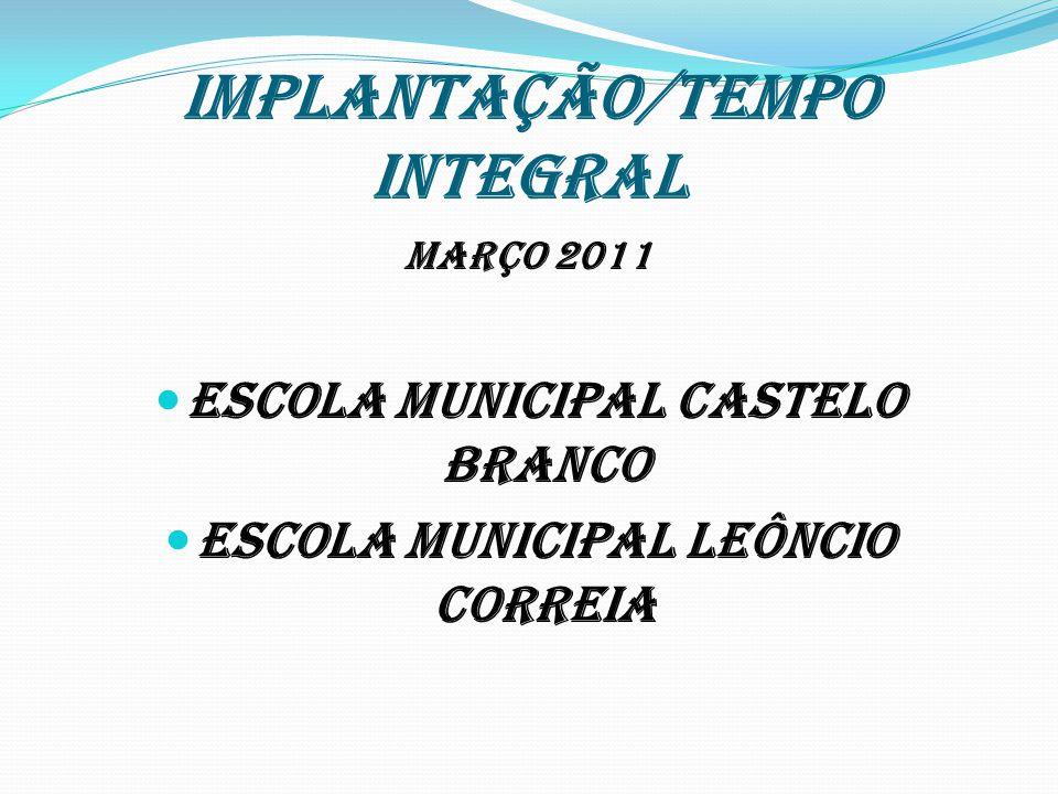 IMPLANTAÇÃO/TEMPO INTEGRAL