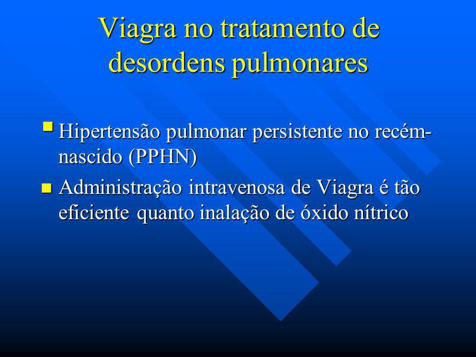 Viagra no tratamento de desordens pulmonares