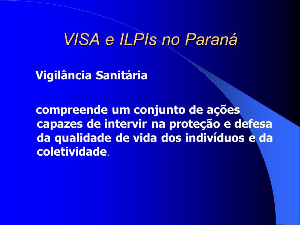 VISA e ILPIs no Paraná Vigilância Sanitária