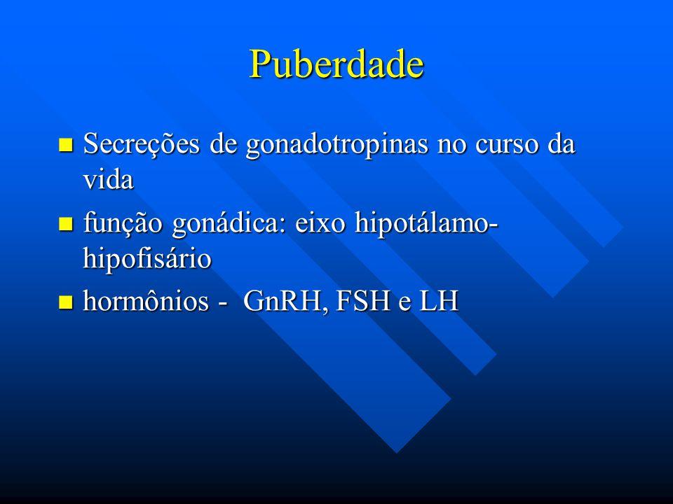 Puberdade Secreções de gonadotropinas no curso da vida