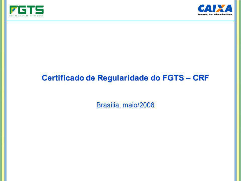 Certificado de Regularidade do FGTS – CRF