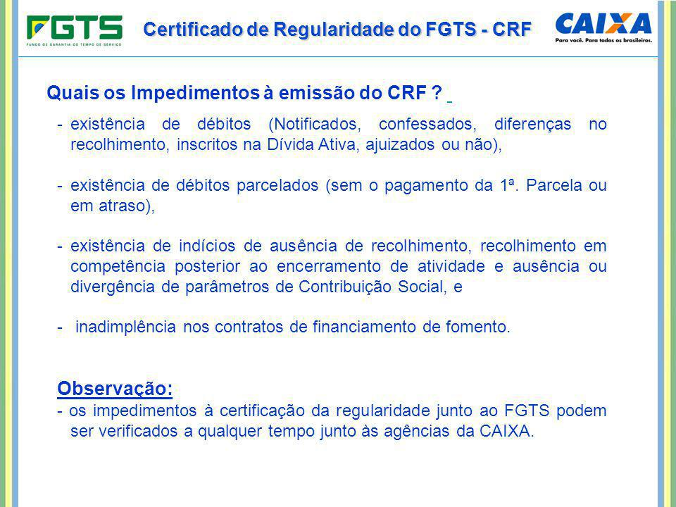 Certificado de Regularidade do FGTS - CRF