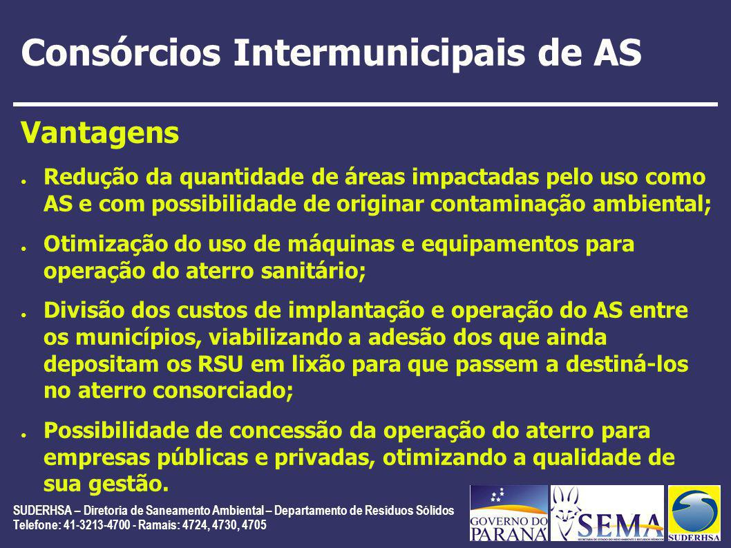 Consórcios Intermunicipais de AS