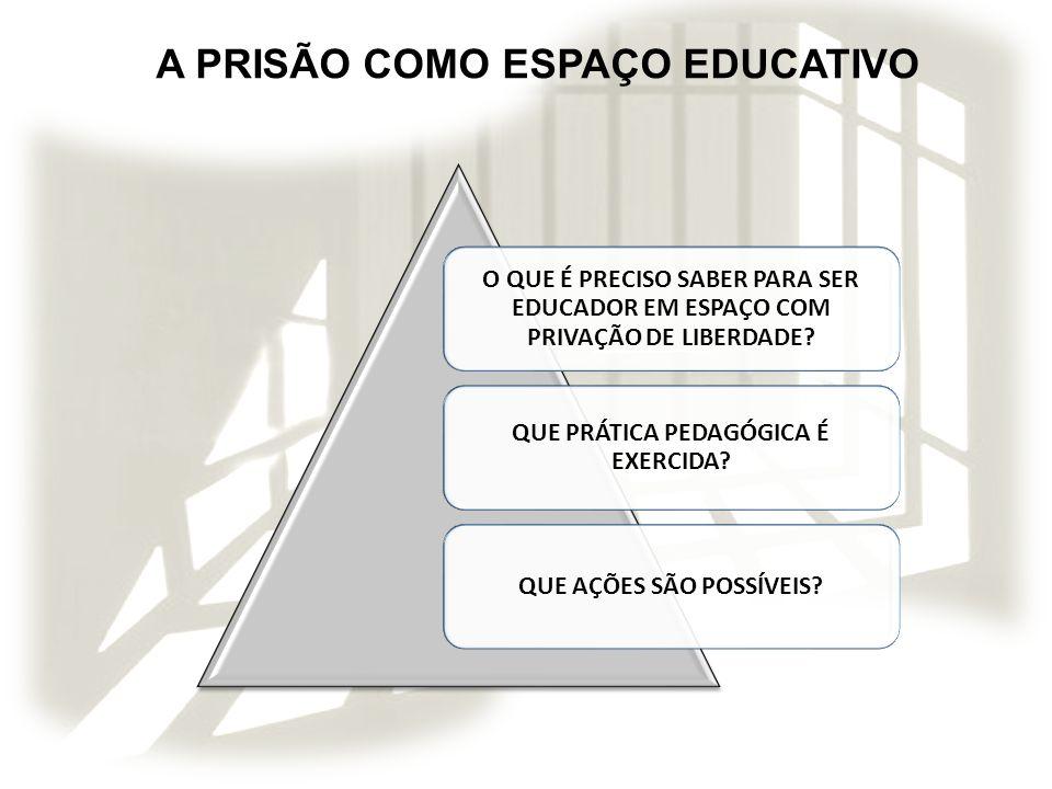 A PRISÃO COMO ESPAÇO EDUCATIVO