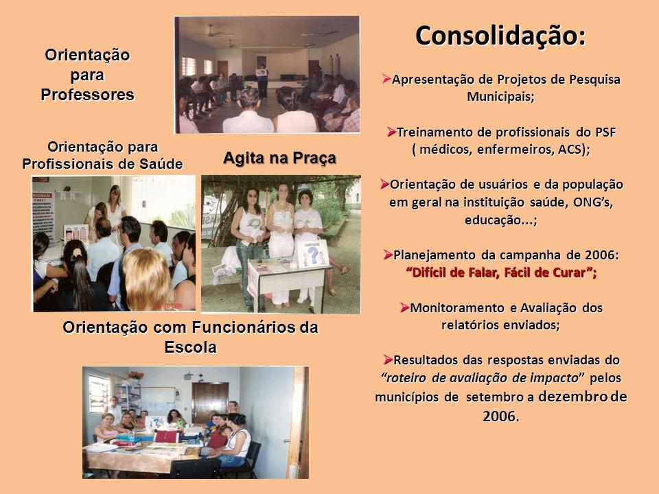Consolidação: Orientação para Professores Agita na Praça
