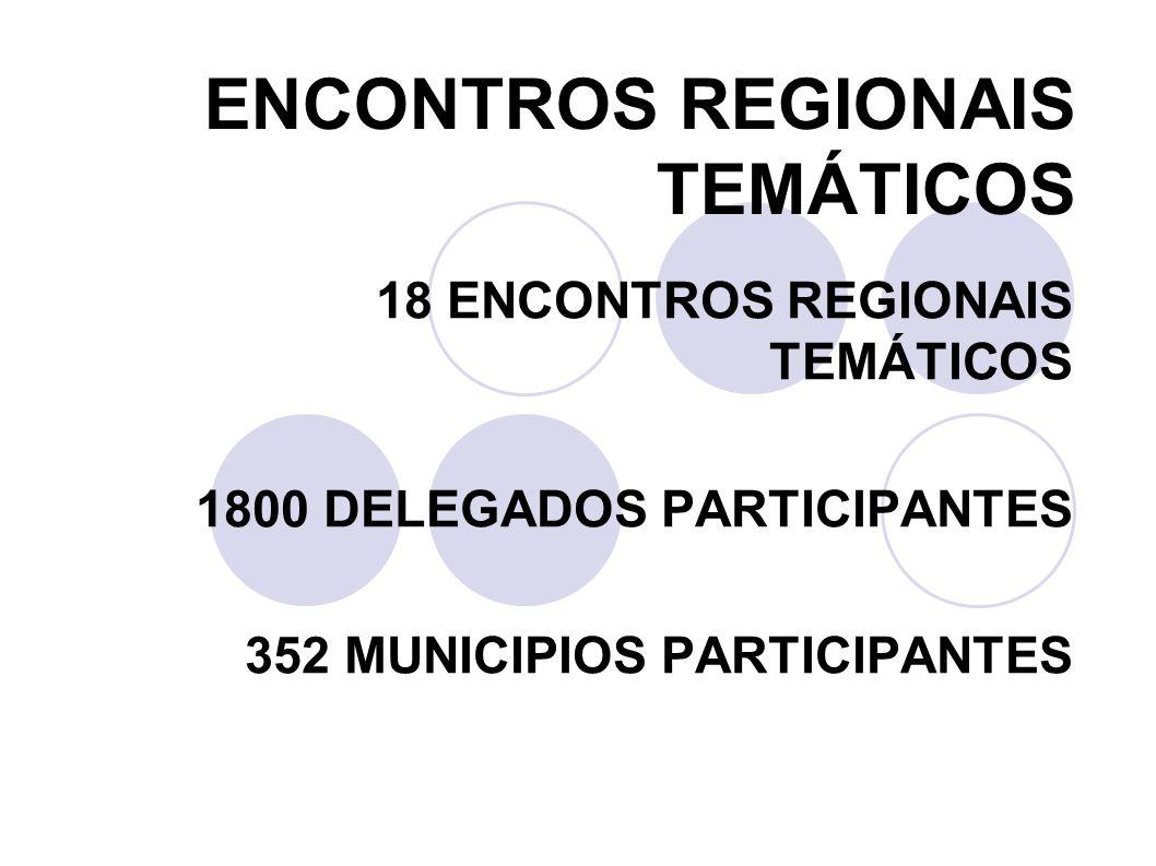ENCONTROS REGIONAIS TEMÁTICOS