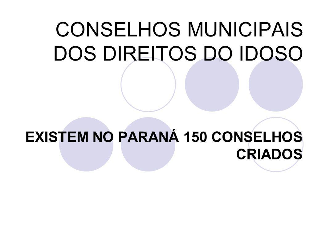 CONSELHOS MUNICIPAIS DOS DIREITOS DO IDOSO