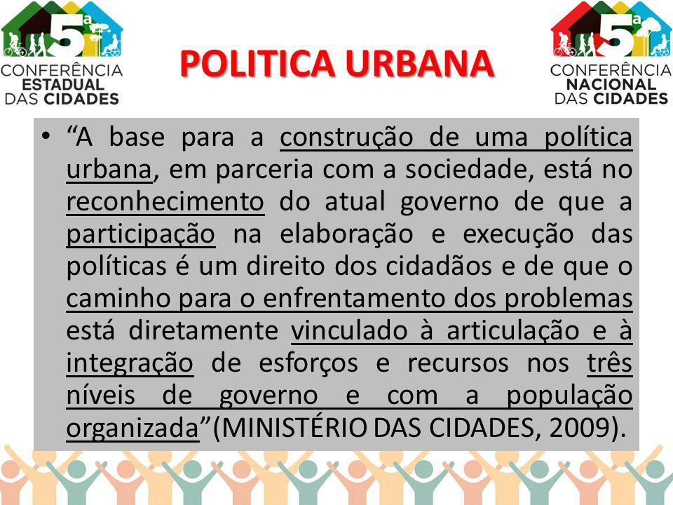 POLITICA URBANA