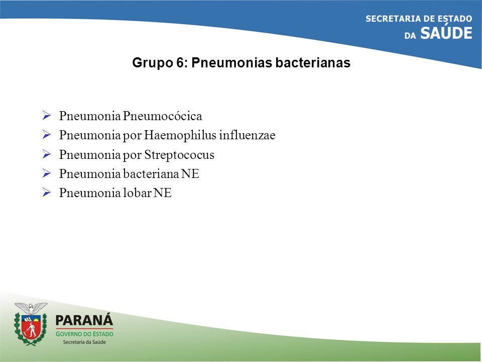 Grupo 6: Pneumonias bacterianas