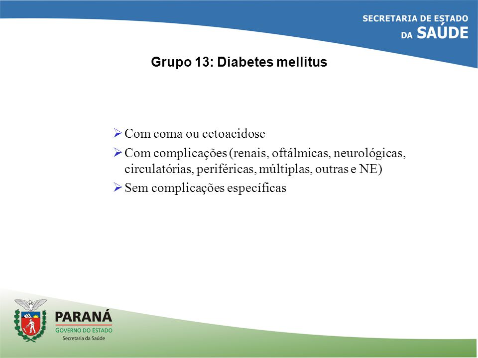 Grupo 13: Diabetes mellitus