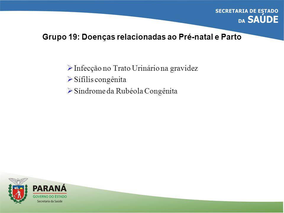 Grupo 19: Doenças relacionadas ao Pré-natal e Parto