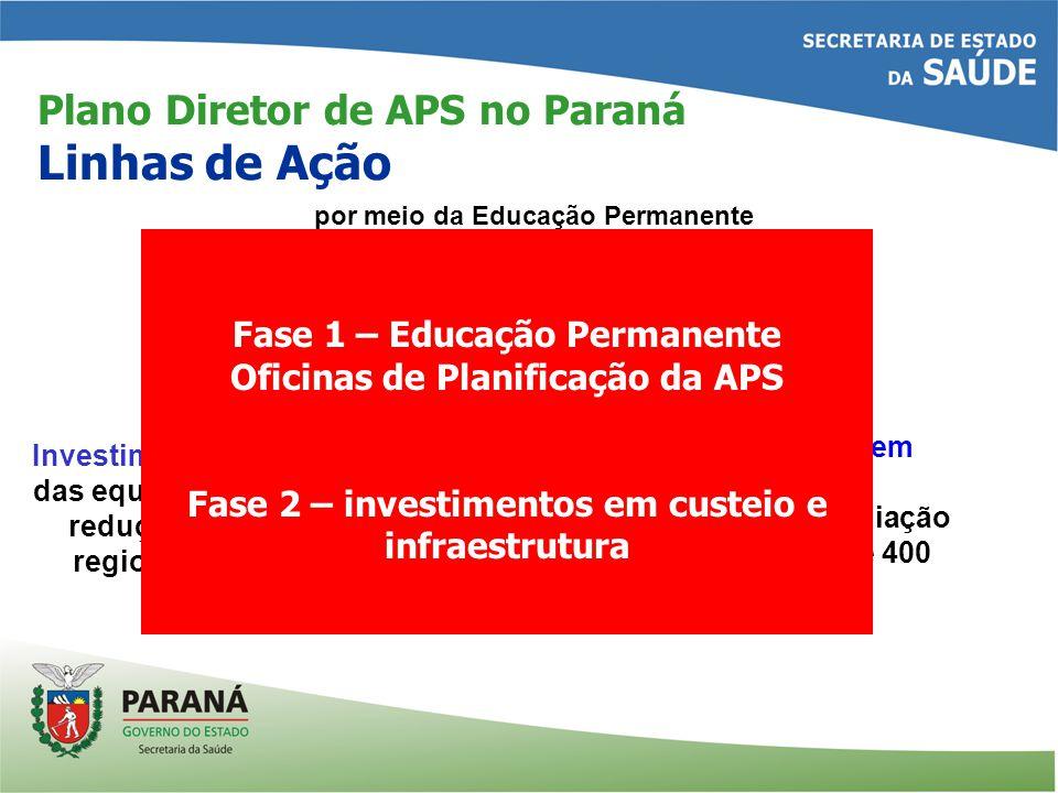 Plano Diretor de APS no Paraná Linhas de Ação