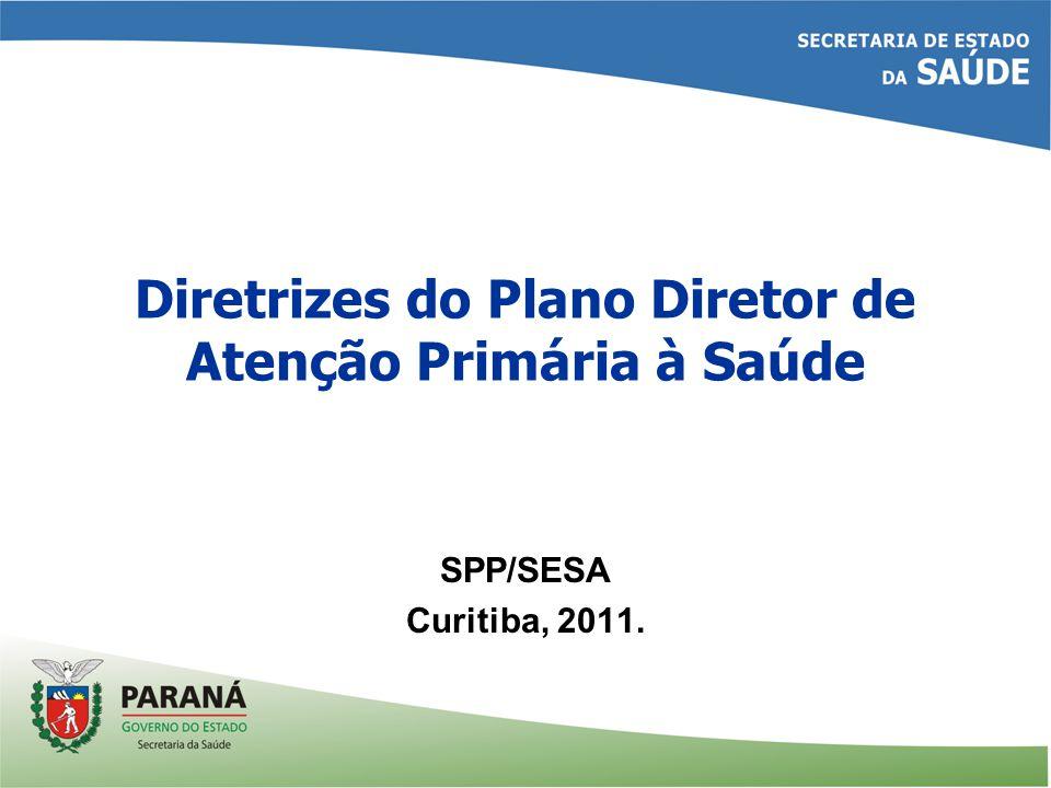 Diretrizes do Plano Diretor de Atenção Primária à Saúde