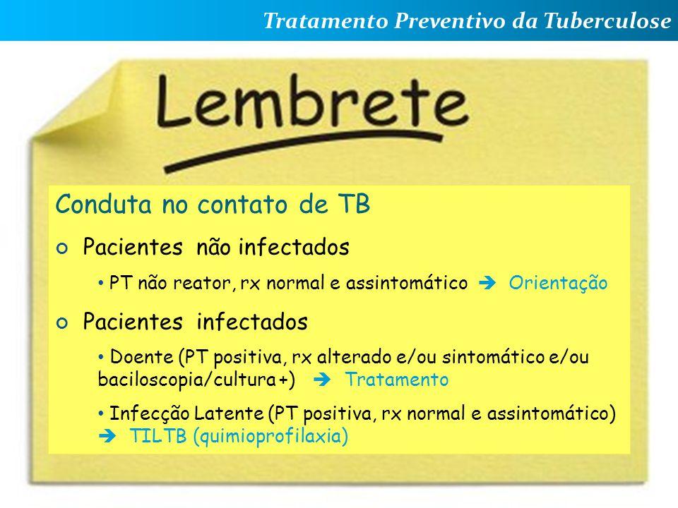 Conduta no contato de TB