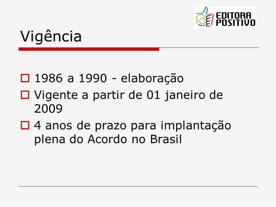 Vigência 1986 a 1990 - elaboração